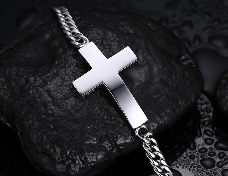 Gold Cross Hand Chain Men's Metal Bracelets