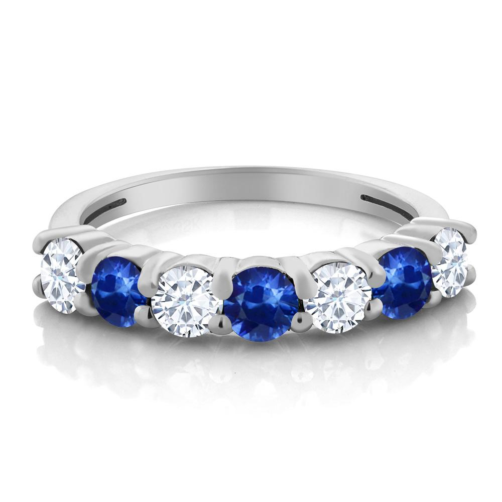 cushion jewelry ring products and sapphire with moissanite sides cut earth stone blue white rare engagement