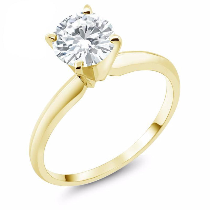Forever One Round Moissanite Engagement Ring