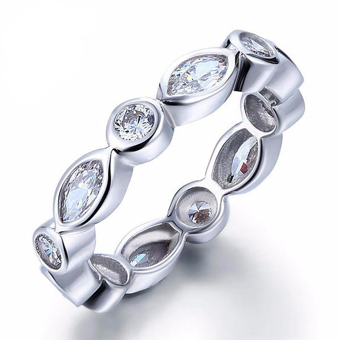 Darcell Zopius Diamond & Silver Eternity Ring