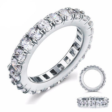 Damia Zopius Diamond & Silver Eternity Ring