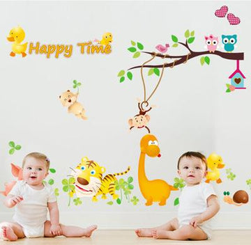 The Animal Cartoon Wall Stickers