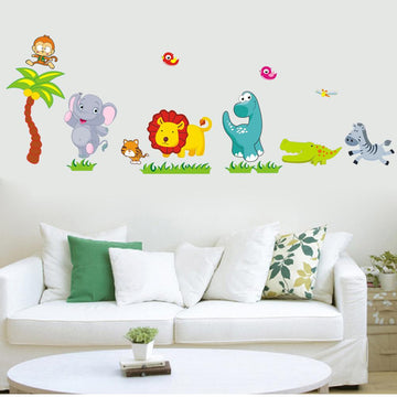 Happy Zoo Animals Wall Stickers