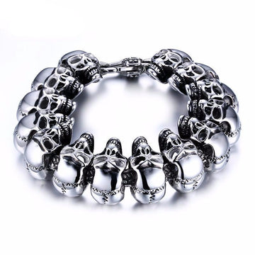 Cool Skull Heavy Punk Men's Metal Bracelet