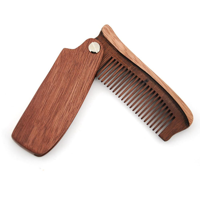 Premium Folding Sandalwood Beard Comb