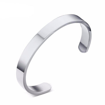 Unisex Stainless Steel Bangle Bracelet