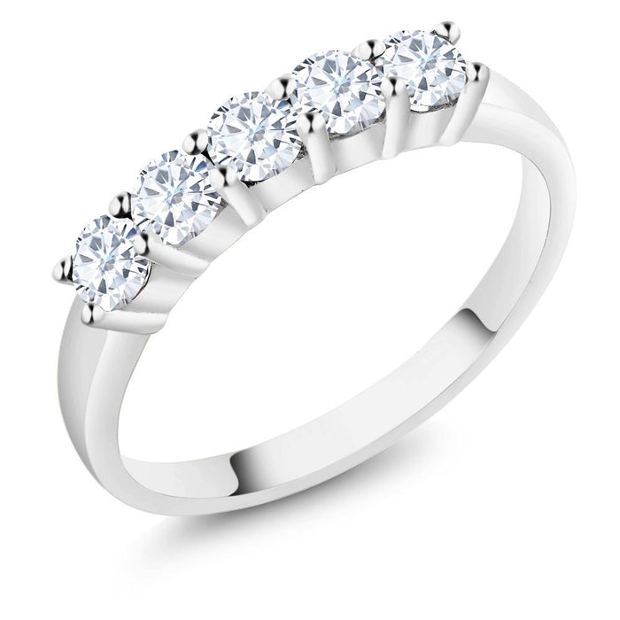 Wedding Band Charles & Colvard Created Moissanite