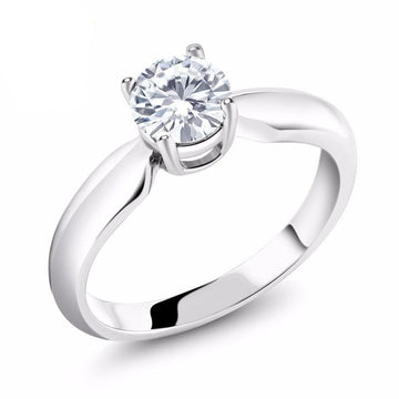 Engagement Solitaire Round Created Moissanite Ring
