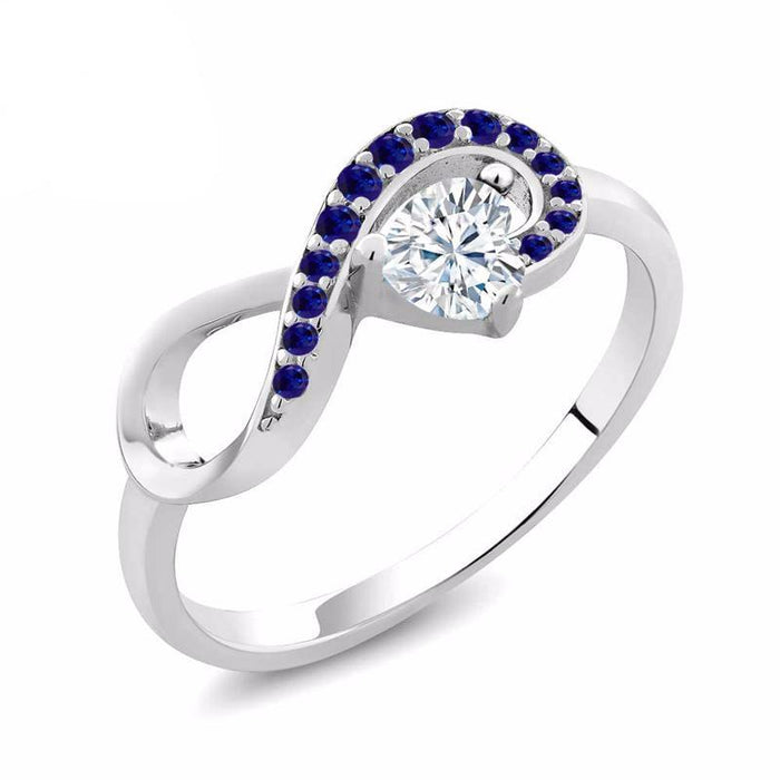 Charles & Colvard Heart Infinity Created Moissanite Ring