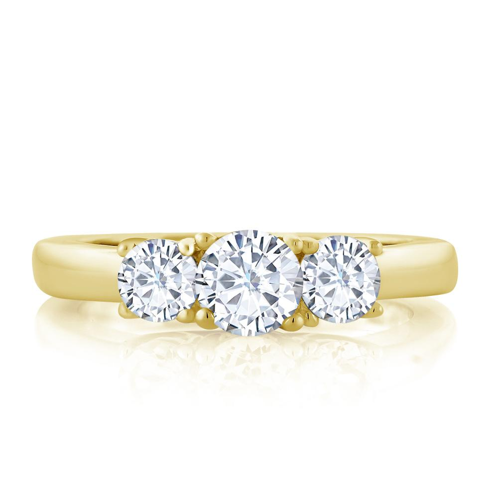 Charles & Colvard Three-stone Moissanite Ring