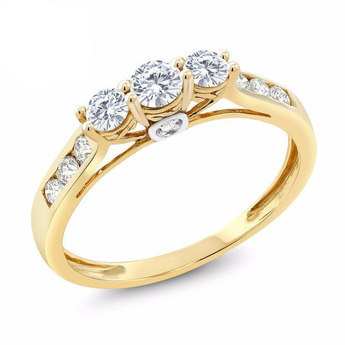 Diamond Engagement Ring Created Moissanite