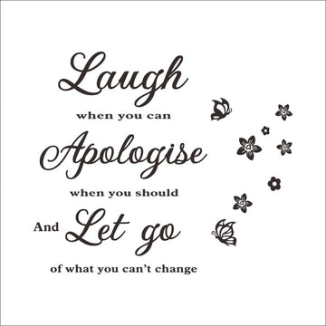 Laugh and Let Go Wall Sticker