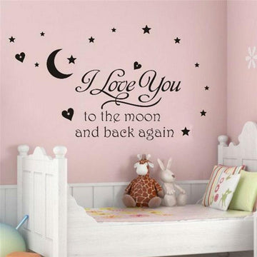 I Love You To The Moon Wall Sticker