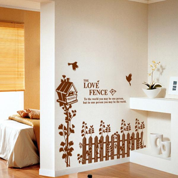 The Fence Bird's Nest Wall Stickers