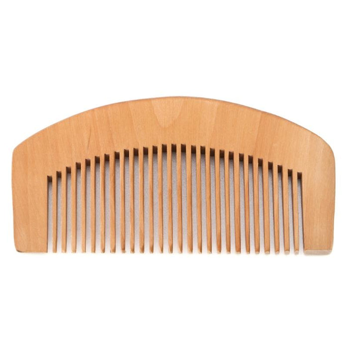 Fine Toothed Peach Wood Beard Comb