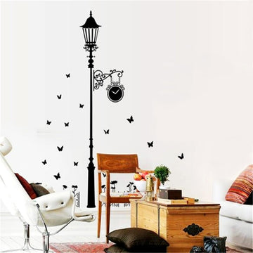 Street Black Lamp Wall Stickers