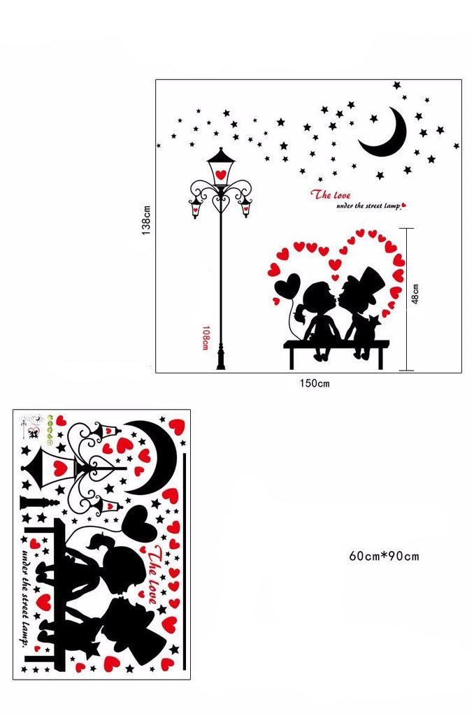 Street Light Romantic Love Wall Stickers