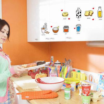 Kitchen Dishes Wall Stickers