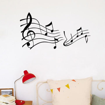 Music Note Pattern Wall Stickers
