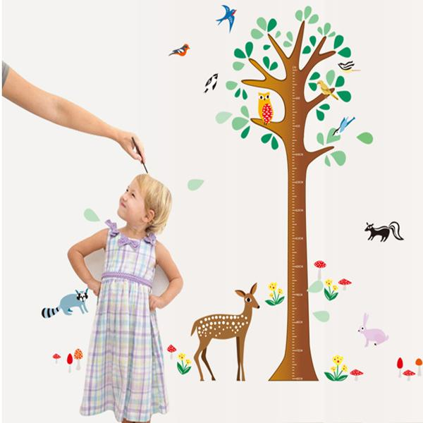 Fawn Height of Children Wall Stickers