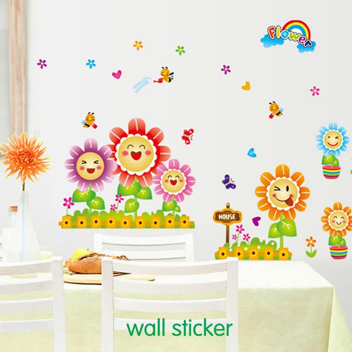Smile Sunflowers Wall Stickers