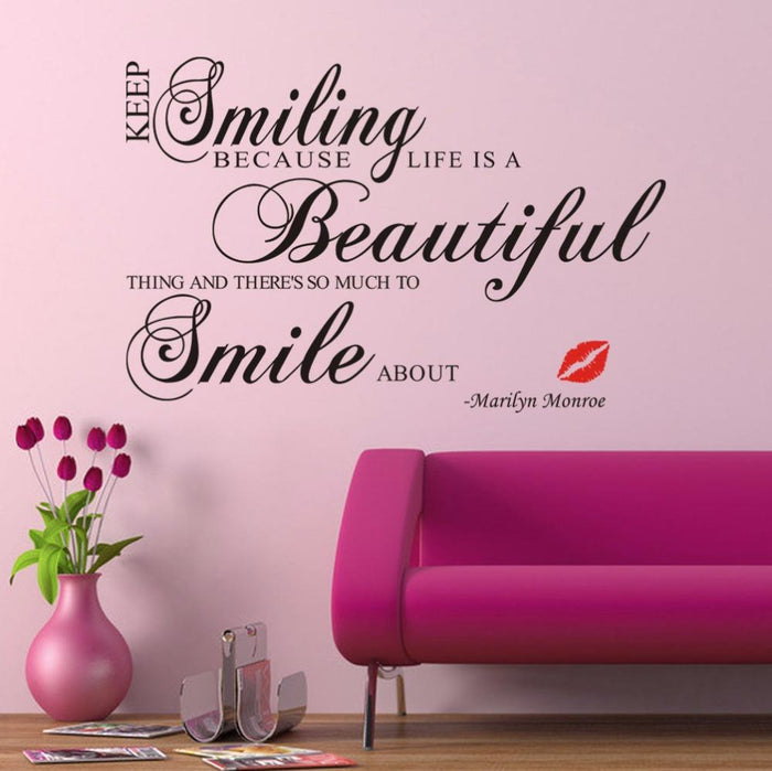 Keep Smiling Wall Stickers