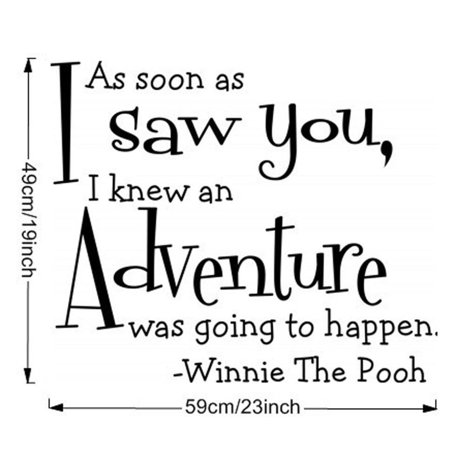 I Saw You Adventure Wall Sticker
