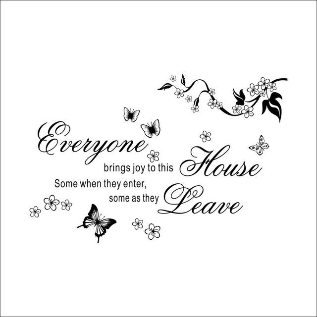 Everyone Brings House Joy Wall Stickers