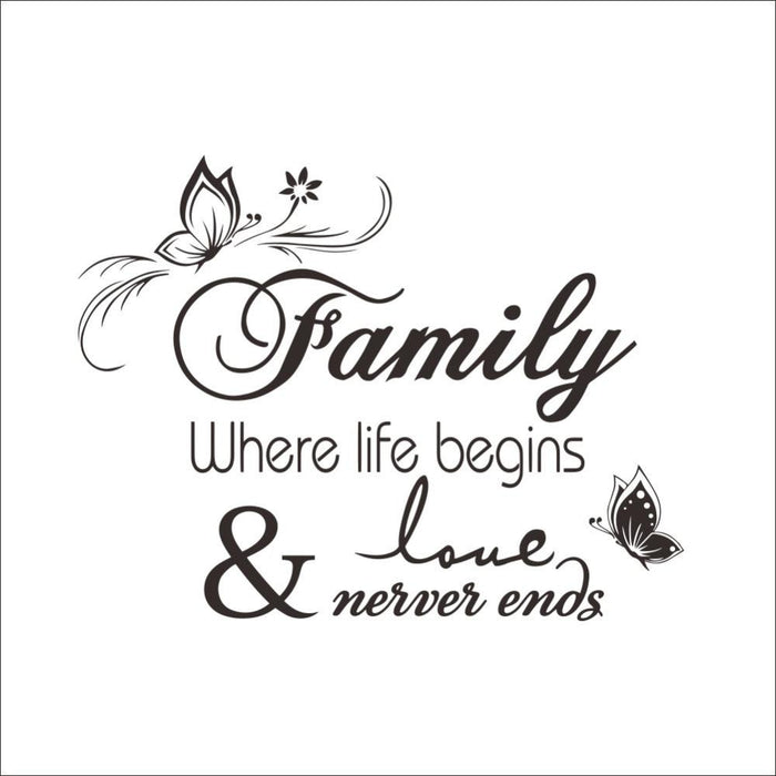 Family Never Ends Wall Stickers