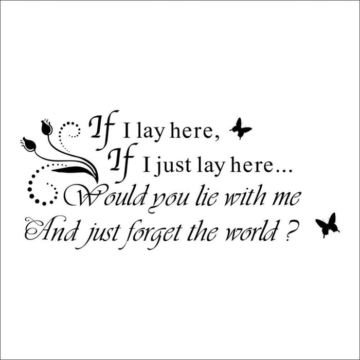If I Lay English Quote Wall Stickers