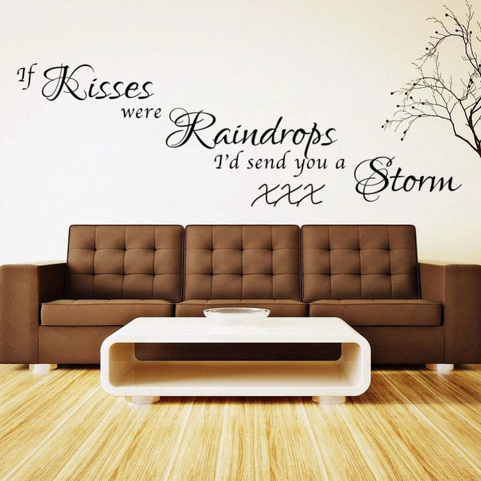 Kisses Raindrops Storm Wall Stickers