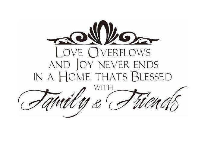 Family And Friends Wall Sticker