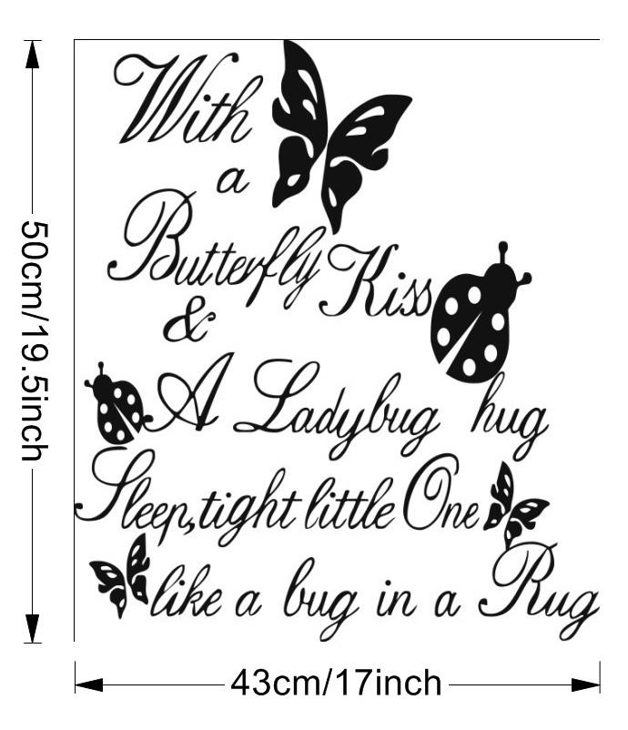 Letters With A Butterfly Wall Sticker
