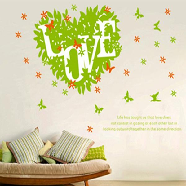 LOVE Leaves Home Decoration Wall Sticker