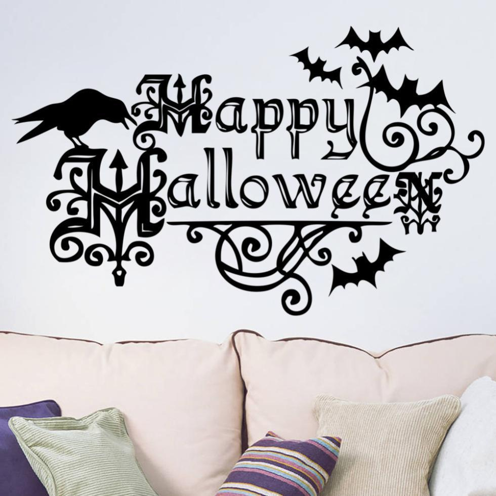 Happy Halloween Bedroom Wall Sticker