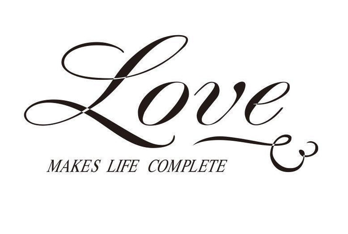 Love Makes Life Complete Wall Sticker