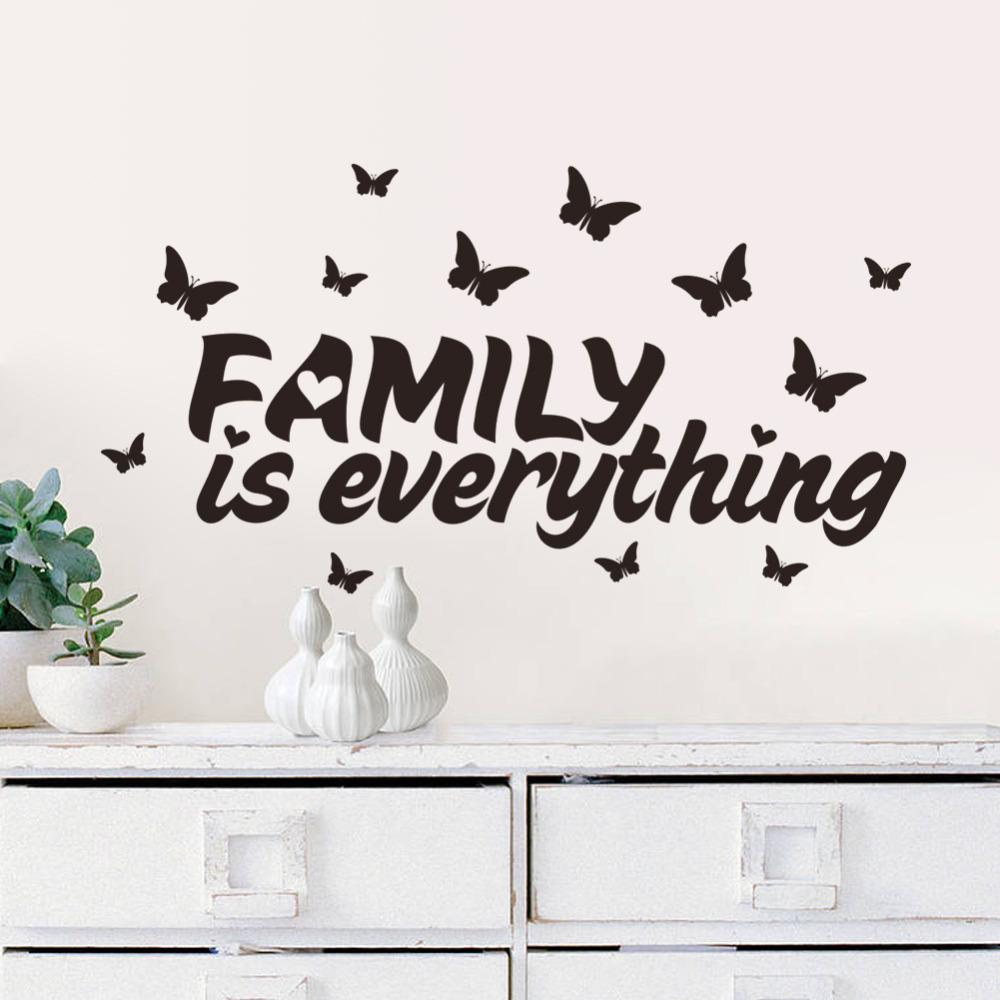 Family is everything Wall Stickers