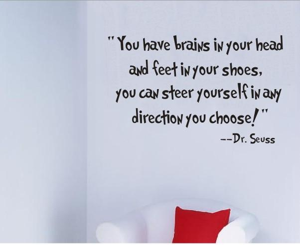 Steer Yourself Wall Sticker