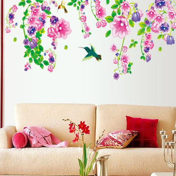 Morning Glory Flowers Wall Stickers
