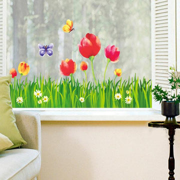 Tulip Oil Painting Wall Stickers