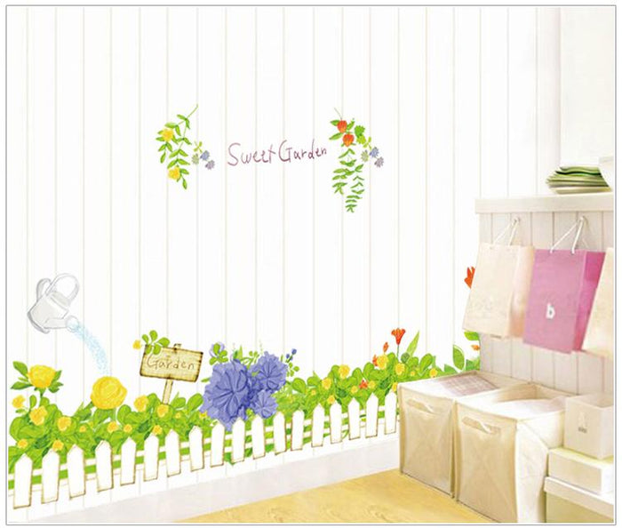 Green Grass Fence Wall Stickers