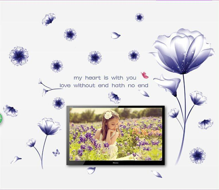 Purple Flower Decorative Wall Sticker