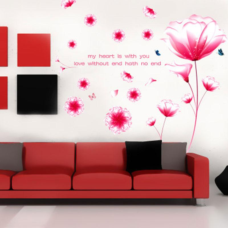 Flowers Decorations Living Room Wall Sticker