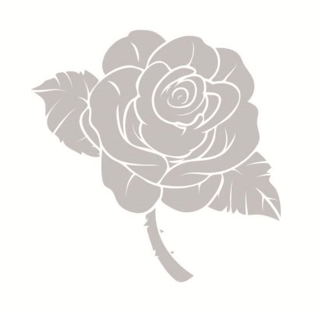 Large Size Pink Rose Wall Sticker