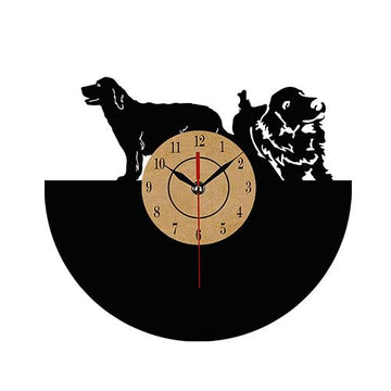 Black Dogs Vinyl Record Wall Clock
