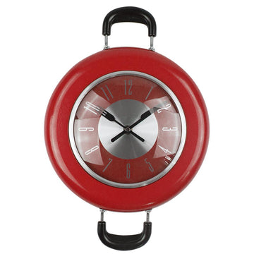 Frying Pan Metal Design Wall Clock