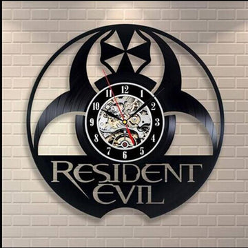 Resident Evil Black Wall Clock