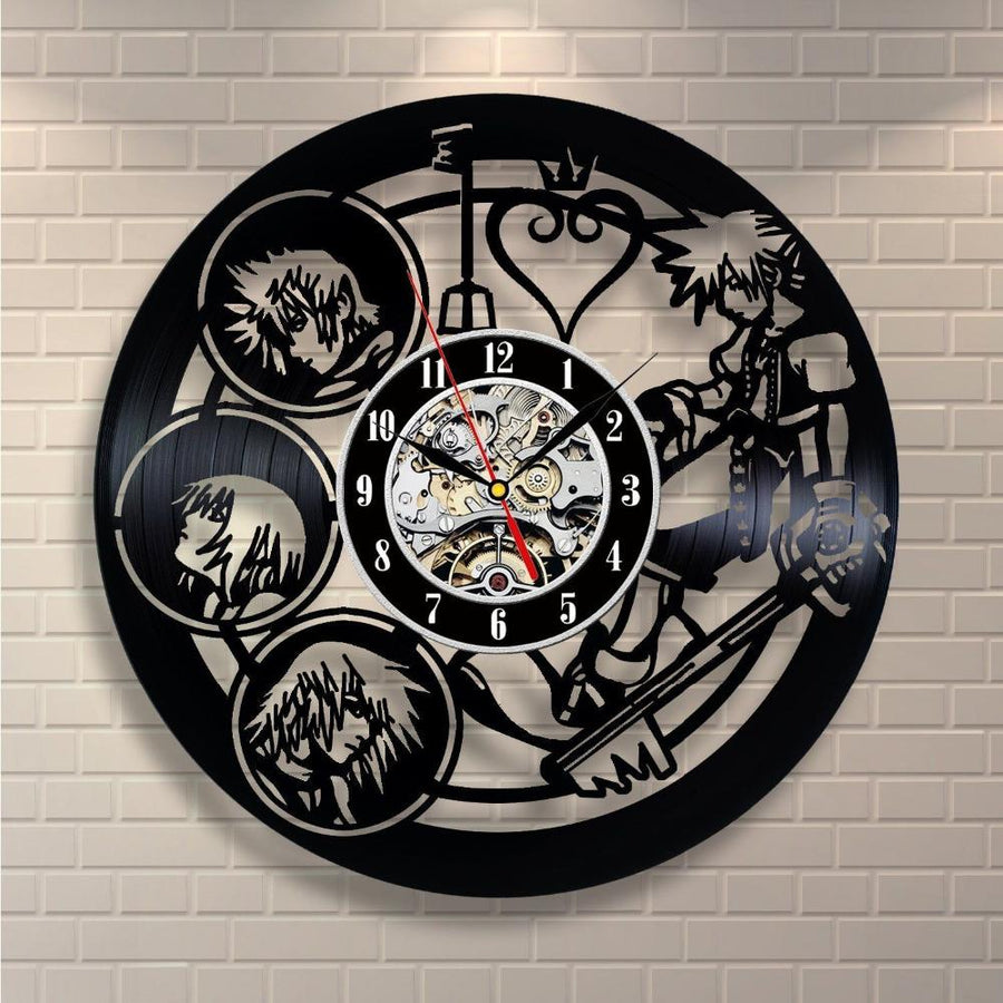 Cartoon Characters Vinyl Record Wall Clock