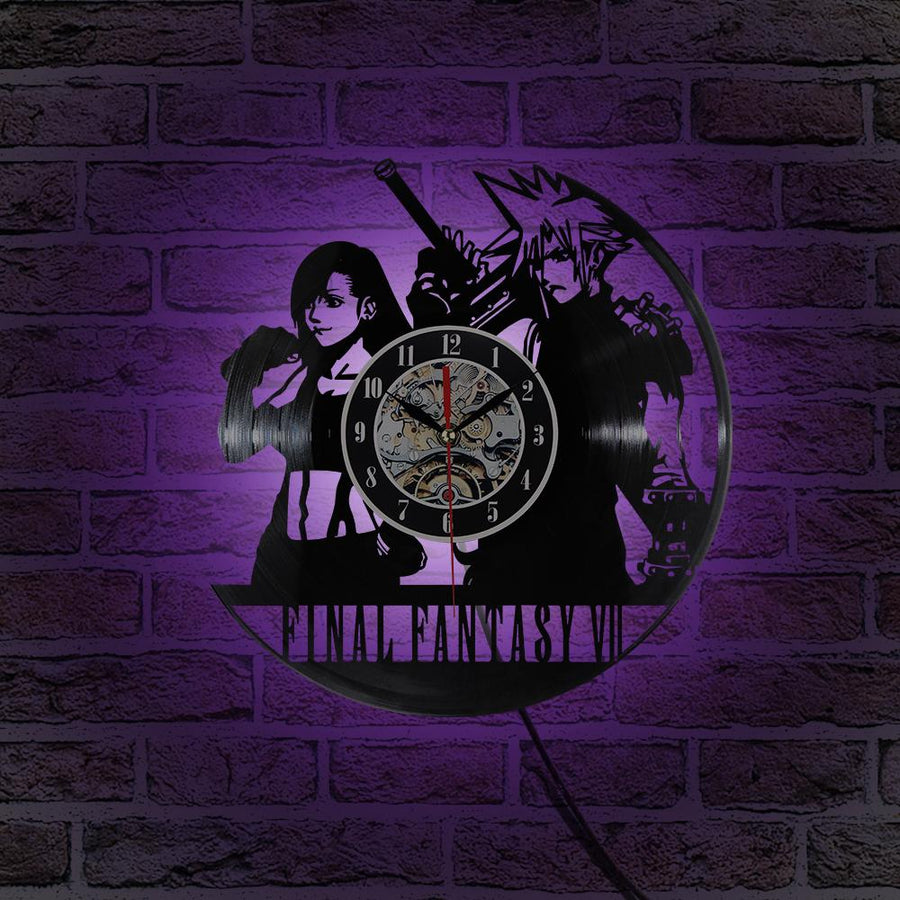 Final Fantasy game Vinyl Record Wall Clock