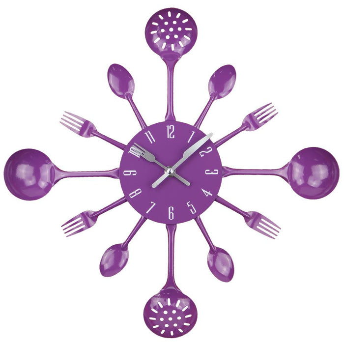 Metal Kitchen Cutlery Style Wall Clock